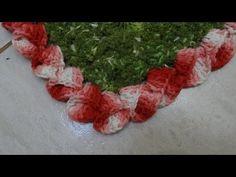 Passo a passo Bico Cone em crochê Folded Flower edging or trim