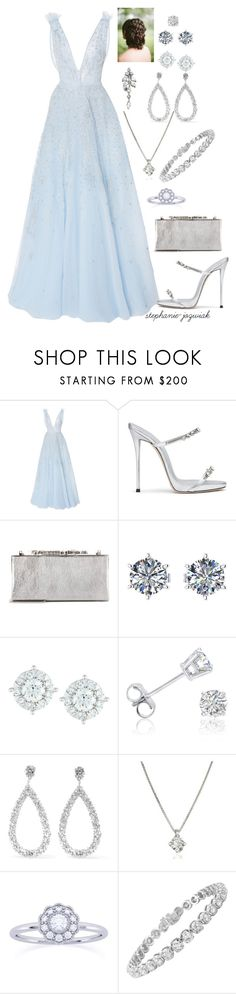 """Laura's Dress for Meg and Carlisle's Wedding"" by stephanie-jozwiak ❤ liked on Polyvore featuring Zuhair Murad, Giuseppe Zanotti, Jimmy Choo, Mémoire, Amanda Rose Collection, Suzanne Kalan, Forzieri and Diana M. Jewels"