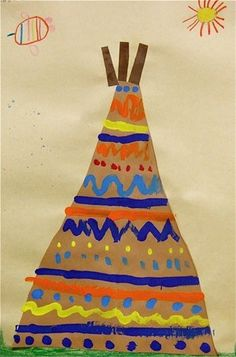 """Painted Tee Pee Design -1"" Artsonia"