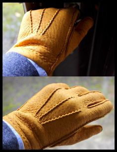 Mitten Gloves, Mittens, Mens Fashion Suits, Fashion Outfits, Custom Leather, Gentleman Style, Leather Gloves, Leather Working, Menswear