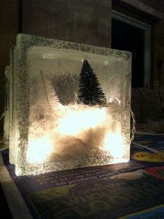 Christmas craft we have these cubes at hobby lobby!