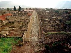 The ancient Roman city was left untouched until explorers rediscovered it in 1748, finding that Pompeii was virtually intact underneath the dust and dirt.
