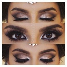 wedding makeup for brunettes best photos ❤ liked on Polyvore featuring beauty products, makeup, eye makeup, eyebrow makeup, eyebrow cosmetics, eye brow makeup and brow makeup