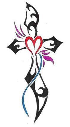 Cross Tattoos | Colorful Crosses Tattoos