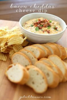 Bacon Cheddar Cheese dip is an easy crowd pleasing appetizer. Make it ahead for game day, tailgating and office parties - it's always a huge hit!