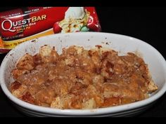 Warm gooey Baked Apple Pie! Made with the awesome Quest Bar!! Healthy Treats, Healthy Recipes, Yummy Treats, Cooking Red Potatoes, Protein Powder Recipes, Protein Recipes, Clean Eating Sweets, How To Cook Meatloaf, How To Cook Zucchini