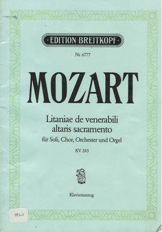 Litaniae de venerabili altaris sacramento is a 1772 work by Mozart.