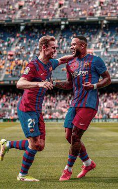 Soccer Backgrounds, Fc Barcelona Wallpapers, Memphis Depay, Football Fever, Messi And Ronaldo, Barcelona Football, Soccer Pictures, Football Wallpaper, Neymar