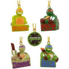 TMNT Kurt Adler 5-Piece Teenage Mutant Ninja Turtles Ornament Set