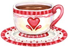 Printable Heart Cup ~ just waiting to be filled with a spot of tea!  :)