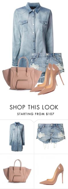 """""""Untitled #3370"""" by xirix ❤ liked on Polyvore featuring Philipp Plein, One Teaspoon and Christian Louboutin"""