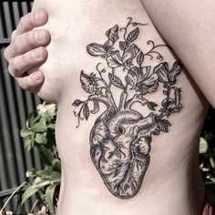 [ natural love ] some floral ribs for Sophie • first tattoo