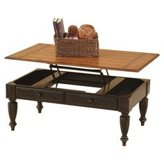 Amazon.com: Progressive Furniture 44542-15 Country Vista Lift Top Cocktail Table, Antique Black and Oak: Kitchen & Dining