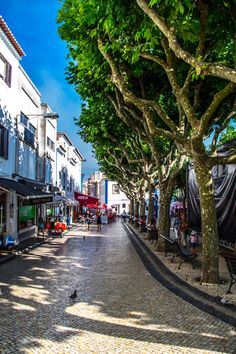 Streets of Ericeira, Portugal.