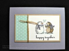 Stampin' Up!'s Best of Snow stamp set used in a non-snow, holiday way! snowman, hedgehog, anniversary, valentine's day, love