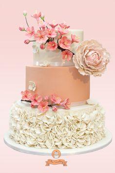 Cherry Blossoms Wedding Cake Cherry Blossoms Wedding Cake Cherry blossoms…