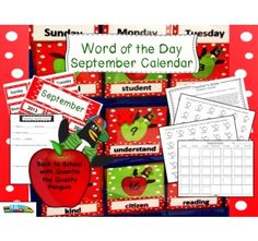 Word of the Day  September Calendar by SOL TrainLearning is 30% off as well as everything in our store through August 16! Don't forget promo code at the end of checkout! BTS10
