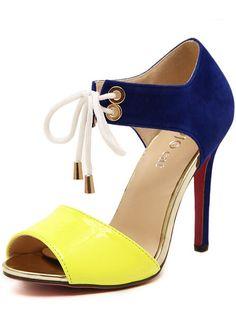 Sandales à talon -Jaune  29.74