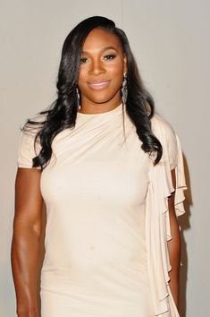 Serena Williams Long Curls - Serena Williams showed off her long curls while…