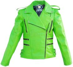 Leather Skin Shop is the only online store that offers Real Genuine Leather Jackets for Women of all ages. Pick your favorite color be it, Red, Yellow, White or other and on your style game! Green Leather Jackets, Revival Clothing, Stylish Mens Fashion, Style Fashion, Fashion Tips, Leather Skin, Punk, Jacket Style, The Ordinary