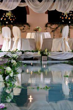 Sposarsi all'Elba - Getting married in Island of Elba Matrimonio celebrato ai Lavatoi Pubblici di Rio nell'Elba. Un  lago incantato dove sete preziose  si sono riflesse nell'acqua illuminata da candele. Un #sogno d'#amore che si chiama #matrimonio. www.weddinginelba.it Wedding In Elba Luxury emotions #civilceremony #wedding #dream #bride #groom #gettingmarriedinelba #history #rionellelba #island #elbaweddingstyle #weddingstyleelba #tuscany #italy #weddingdestination + 39 328 5970297