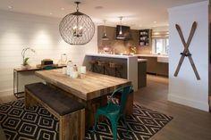 salle à manger industrielle,cuisine et salle à manger modernes