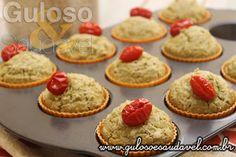 Dica de #lanche saudável, delicioso e fofinho. O Muffin Salgado de Aveia e Agrião, é uma opção leve e perfeita.  #Receita aqui: http://www.gulosoesaudavel.com.br/2015/10/08/muffin-salgado-aveia-agriao/