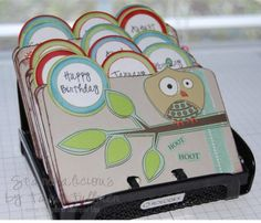 Rolodex birthdays by fabfullmers - Cards and Paper Crafts at Splitcoaststampers Birthday Love, Birthday Cards, Homemade Gifts, Homemade Cards, Birthday Reminder, Birthday Calendar, Rolodex, Crafty Craft, Crafting