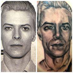 My friends David Bowie portrait  #tattoo #davidbowie #bw #kathouse