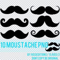 Moustache png by ~RosiEditions on deviantART