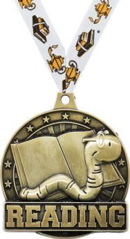 #Reading #Medal #Awards are Great to Give to Bookworms in the Class. http://www.crownawards.com/StoreFront/CM09RD01RG.ALL.Medals-Dogtags.2%22_Reading_Medals.prod