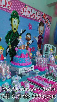 Decoración, Biper, Flopy, fiesta, cumpleaños, bocaditos personalizados.