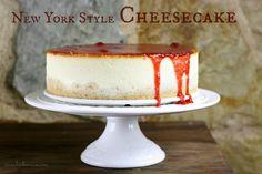 Tarta de queso Estilo New York con Mermelada de Fresa Casera (sin y con Thermomix)
