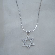 Sterling Silver Star of David Pendant Necklace by berrysdesigns, $24.00