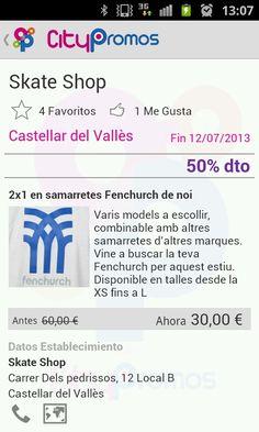 Les millors ofertes amb roba i complements skate a #castellardelvalles ( Fenchurch, independent, rip curl, DVS ...)