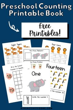 An engaging and fun Preschool Theme Unit all about Jungle Friends! This Jungle Theme Preschool Unit has a printable counting book along with activities each day to read, make, experience and work! Your preschool will love these fun hands on activities. Educational Activities For Toddlers, Preschool Activities At Home, Preschool Printables, Hands On Activities, Kids Learning, Kindergarten Worksheets, Free Printables, Jungle Preschool Themes, Jungle Theme
