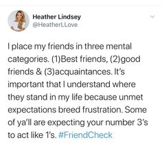 "Heather Lindsey on Instagram: ""Stop expecting so much from your #3's. Your #1's are already on it. Friendships should flow naturally so if it ain't flowing — step back…"""