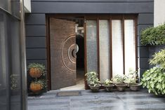 Main Entrance Door Design, Home Entrance Decor, Front Door Entrance, Front Door Design, House Entrance, Gate Design, House Design, Kelly Hoppen Interiors, Modern Front Door