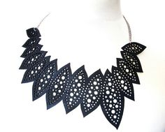 Recycled Inner Tube Necklace - We are One -. €44.00, via Etsy.