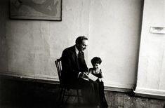 Robert Frank, Meyer Shapiro and Pablo, New York, 1953.