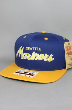 c4a6fb40366 Seattle Mariners Snapback Hat (Script)(Blu Yel) by use rep code  OLIVE for  off!