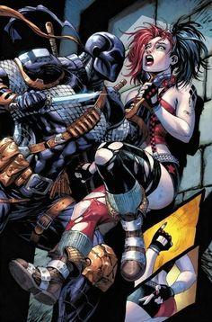 Deathstroke v Harley Quinn Dc Deathstroke, Deathstroke The Terminator, Marvel Wolverine, Comic Books Art, Comic Art, Gotham, Univers Dc, Arte Dc Comics, Dc Comics Characters