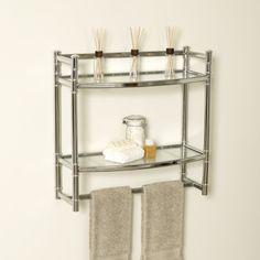 Bathroom Shelves Product | Zenith Products 9012SS Bathroom Wall Shelf