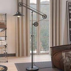 "Williston Forge Carlisle 70"" Reading Floor Lamp & Reviews   Wayfair Floor Lamp Base, Cool Floor Lamps, Traditional Floor Lamps, Floor Shelf, Torchiere Floor Lamp, Floor Colors, Unique Lamps, Coffee Table With Storage, Desk Lamp"