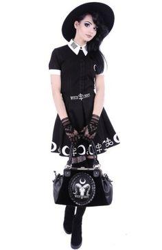 Restyle-Gothic-Tasche-Cameo-Witchcraft-Skull-Lolita-Handtasche-Nugoth-Occult-Bag