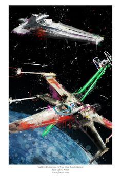 X-Wing Rogue Squadron Art Panel Archival Quality 11x17 by j2artist