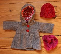 Doll Outfit Winter Joy in Grey by Mariengold, via Flickr
