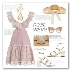 """Heat Wave"" by angelicallxx ❤ liked on Polyvore featuring Zimmermann, Sensi Studio, Valentino, Hueb, AERIN and heatwave"