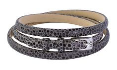 Joy de la Luz | Leather buckle bracelet stingray black €29,95