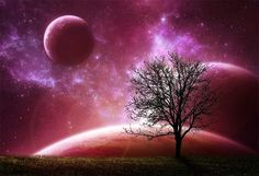Red Dawn by `Emerald-Depths on deviantART Pink Moon, Pink Sky, Purple, Sky Moon, Everything Pink, Moonlight, Pretty In Pink, Photo Art, Mystic